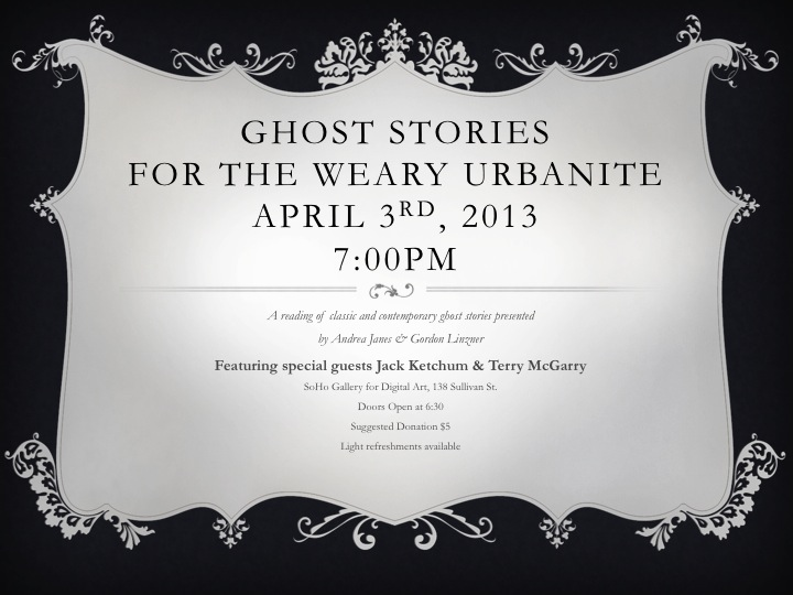 Ghost Stories Flyer Text Only