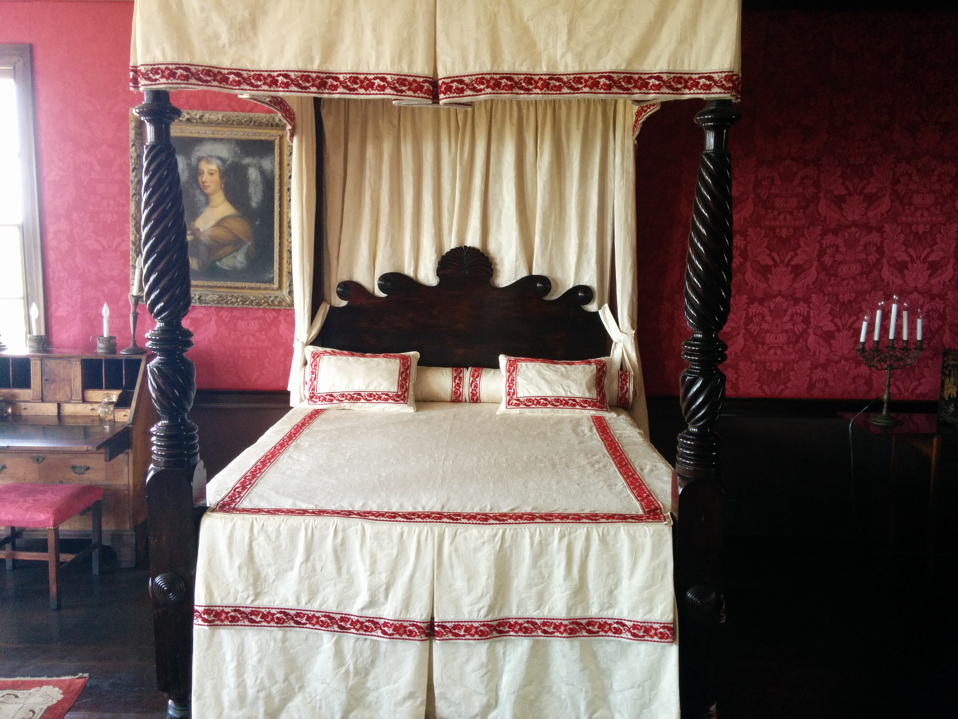 The bed where Annie was murdered