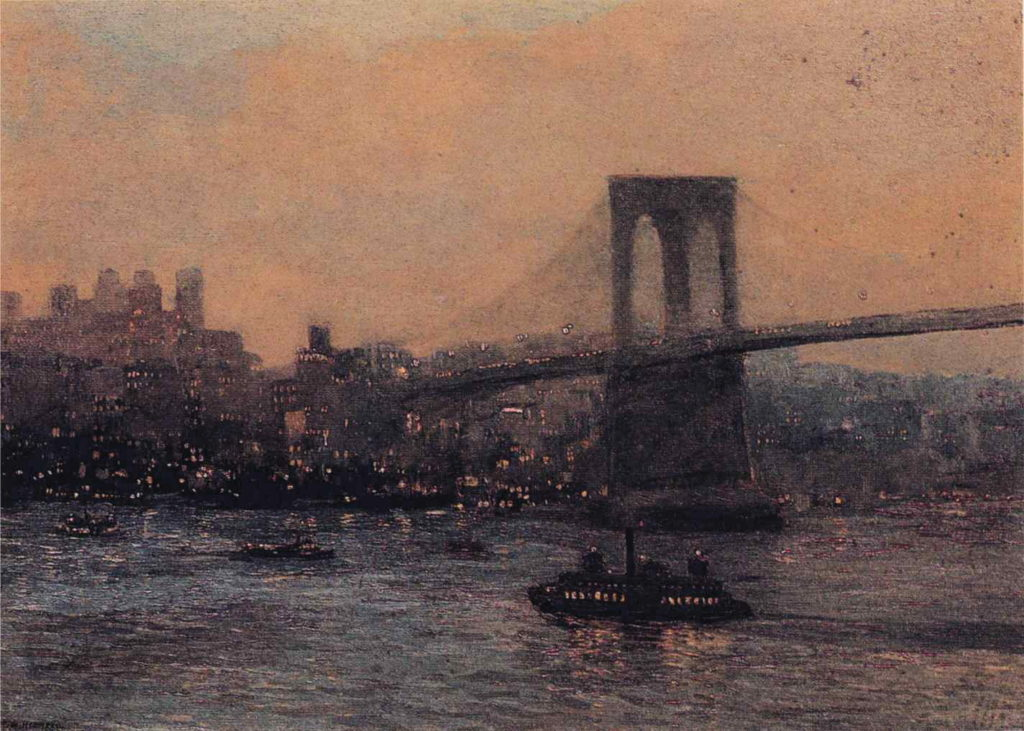 Edward_Willis_Redfield_-_Brooklyn_Bridge_at_Night